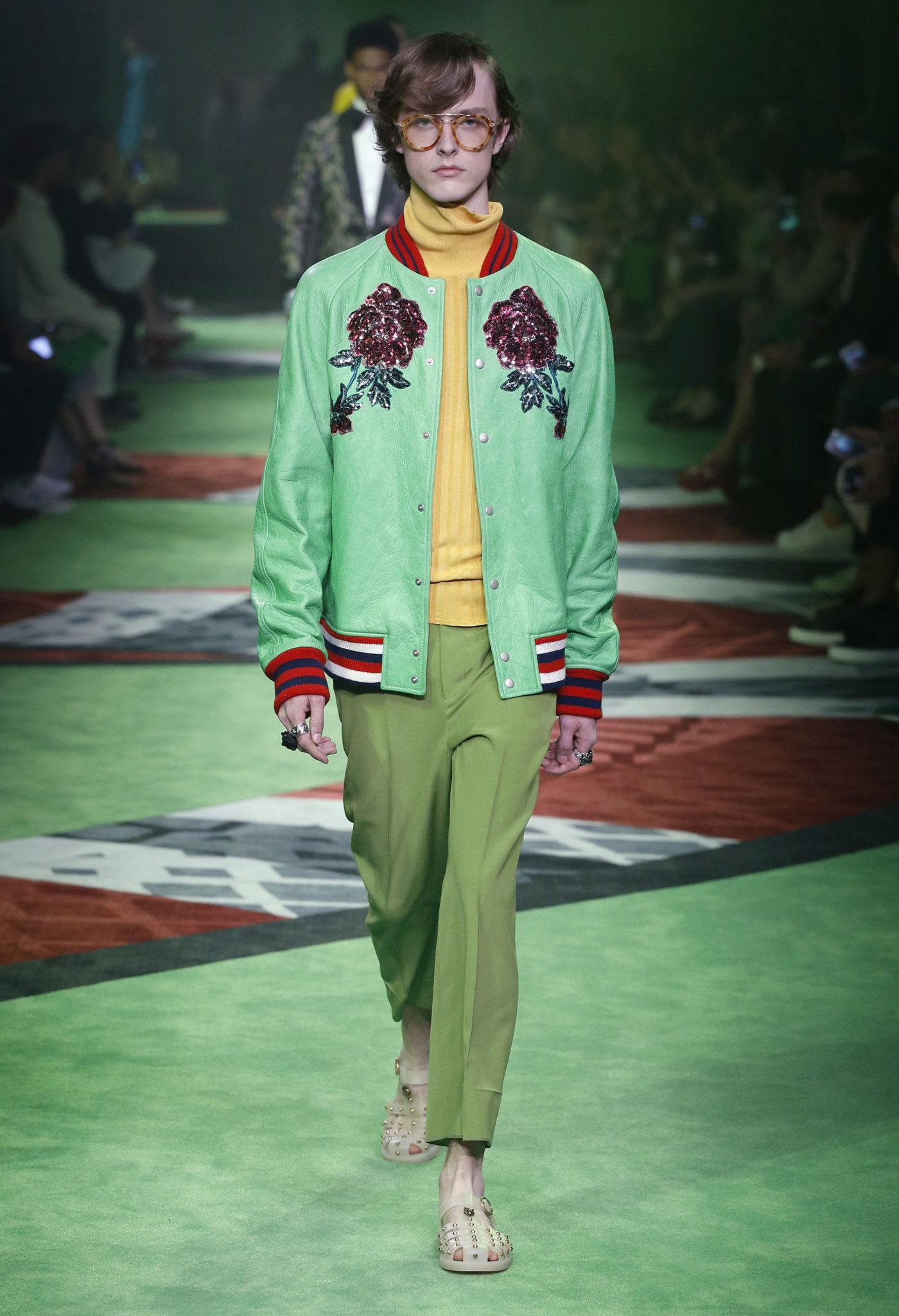 blog-mode-homme-strasbourg-PANTONE-greenery-2017-Menswear-Gucci-4