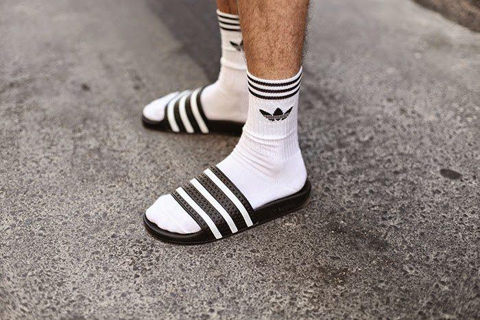 avis tendance claquettes chaussettes blog