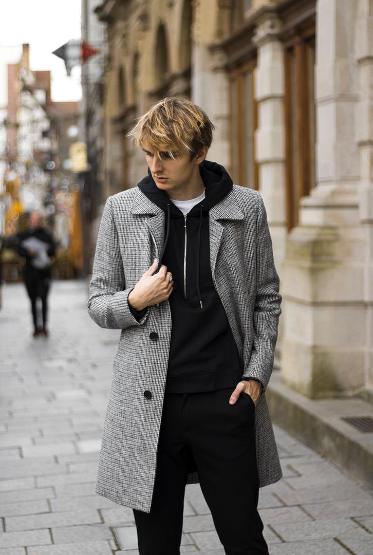 manteau en tweed blog mode homme Strasbourg