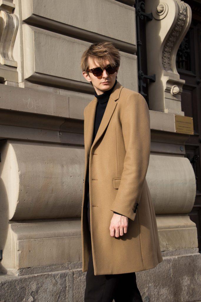 Manteau Blogger Man Men Homme Camel Coat French Paris Male Sandro rdCxWoeB