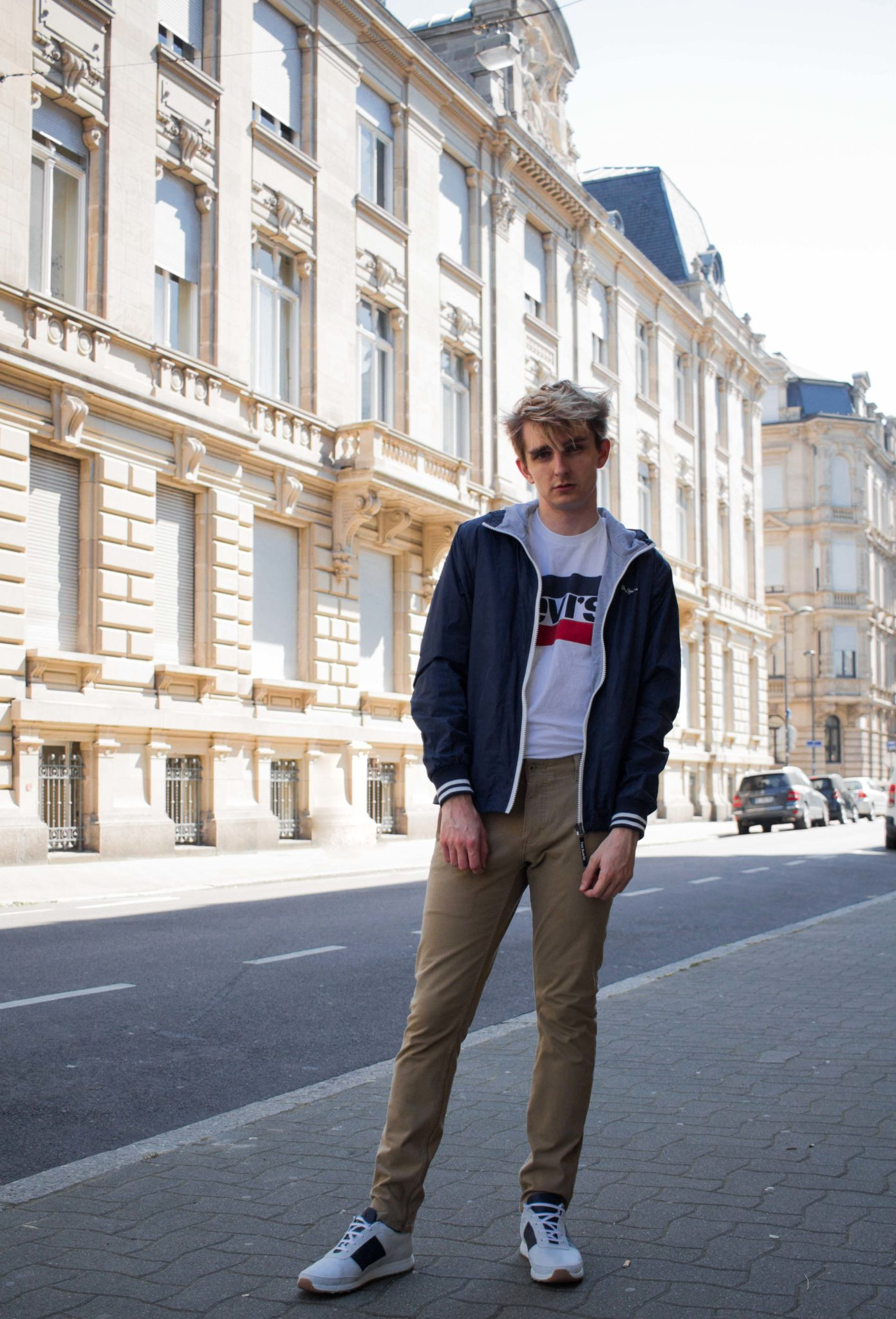 spring outfit maurice style menswear fashion blog levis pepe jeans french blogger