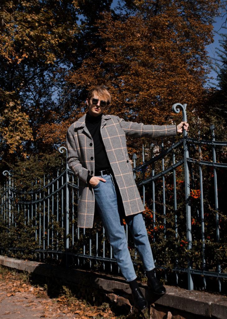 Le manteau pied de poule Maurice style blog mode homme strasbourg influenceur lifestyle automne look outfit manteau sandro pied de coq
