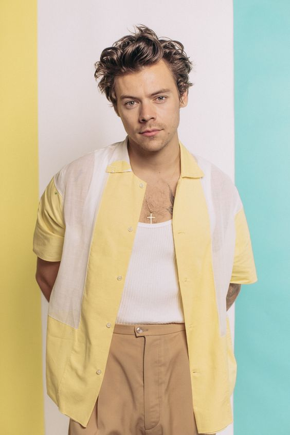 harry styles mode homme chemisette